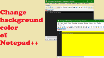 Notepad++ changing background color