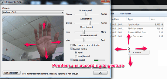 Free Software to Control PC via Hand Gestures, Voice