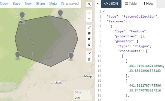 online map to display GEOJSON data