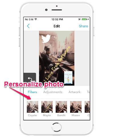 personalize photo