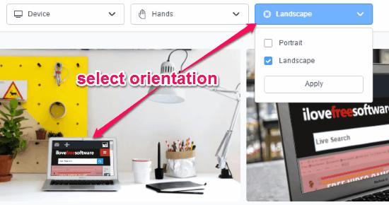 select orientation