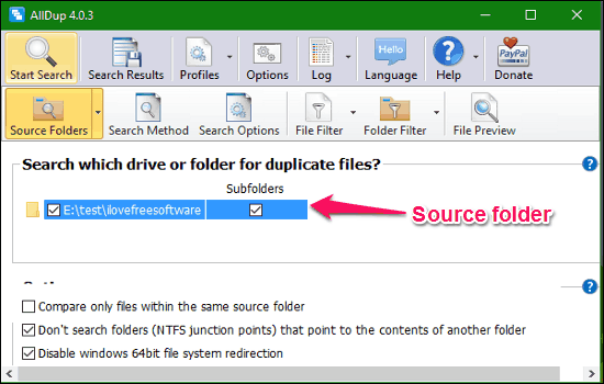 Source folder import