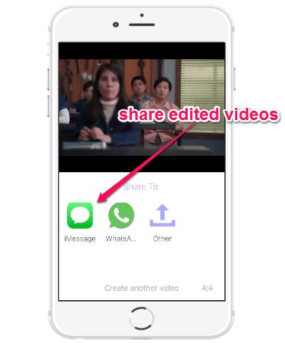 share edited videos
