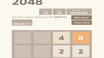 time based 2048 game