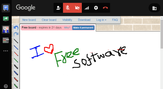 use whiteboard with google hangouts
