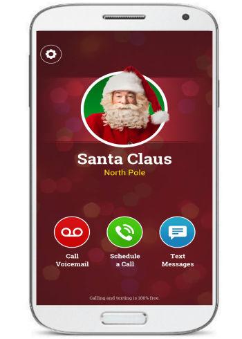 A call from santa- talking Santa apps
