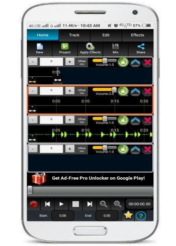 AudioDroid- audio mixing studio- free audio mixer android app