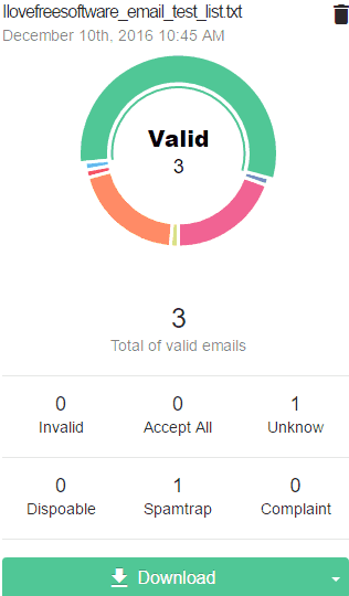 Bounceless- free bulk email verifier website- result-download