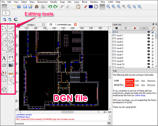 DualCAD-Editting DGN files