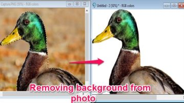 Remove background from photos