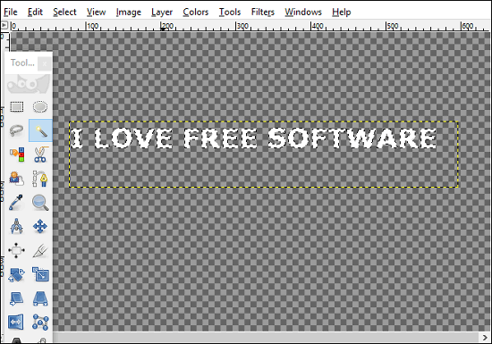 GIMP gradient to text