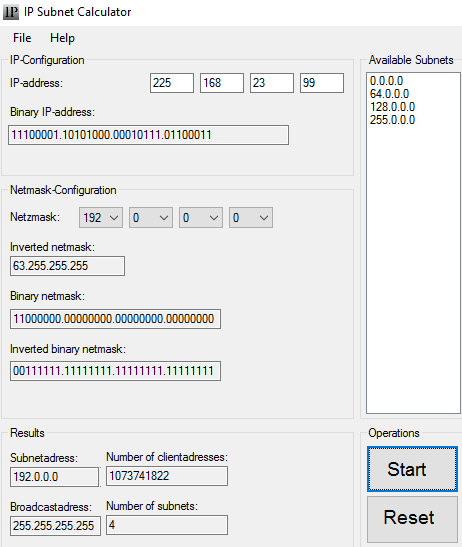 IP subnet calculator software- 5 free IP subnet calculator software