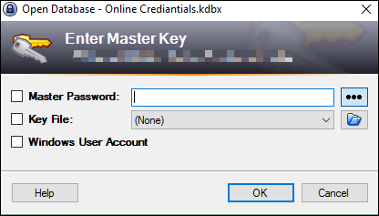 KeePass master pass