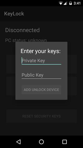 KeyLock app typing keys