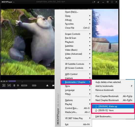 video bookmarks Add bookmarks To Video Files