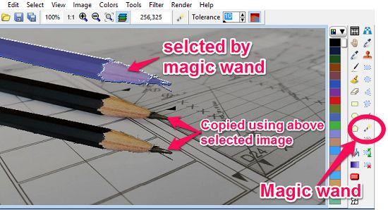 LazPaint-magic wand