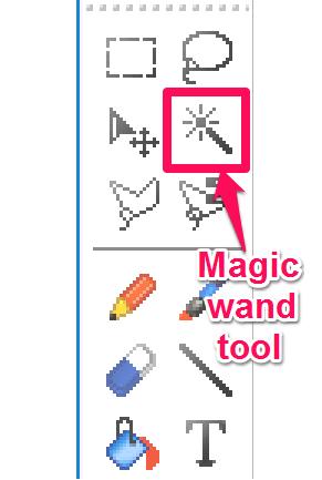image editor with magic wand