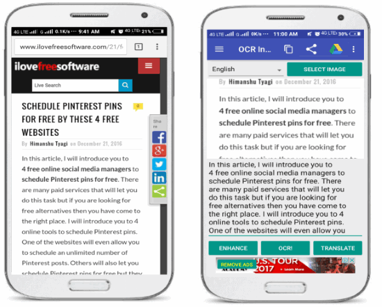 OCR instantly free- OCR Android app to extract text from images
