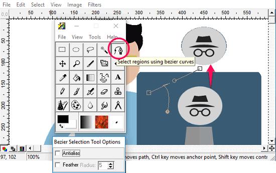 PainStar- selecting using pen tool