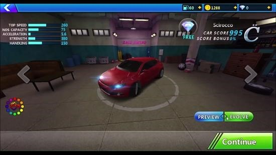 Rage Racing 3D car garage