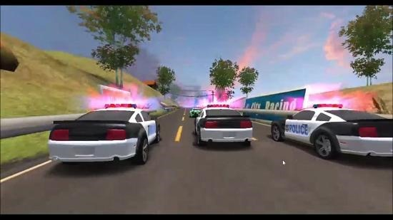 Rage Racing 3D cop chase