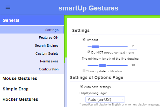 SmartUp gestures- free chrome gesture extension