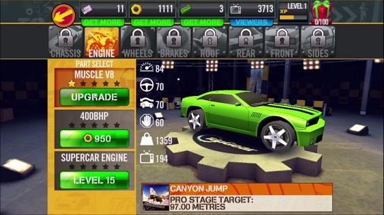 Top Gear SSR car upgrades