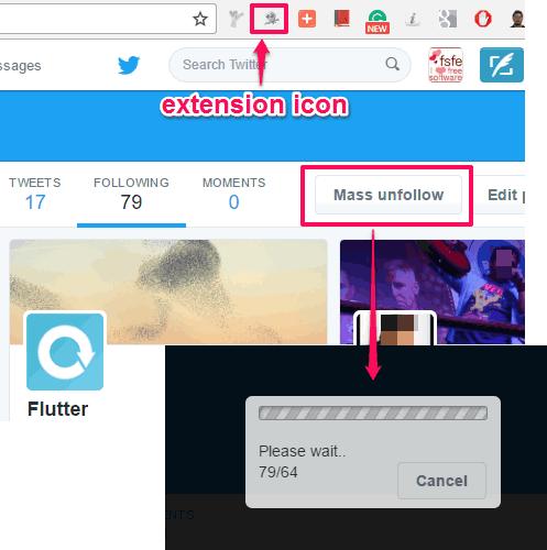 Twitter unfollow chrome extension