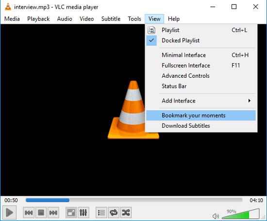 VLC- moments tracker accessing