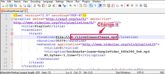 VLC playlist editpng