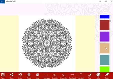 abstract coloring book design