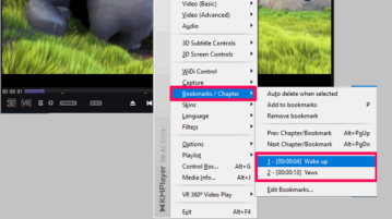 Adding bookmarks to a video file