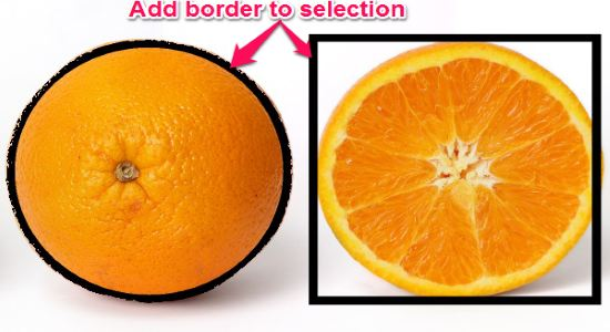 add border to slection in paint.net