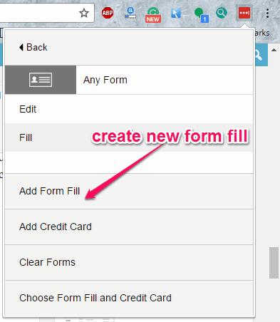 add form fill