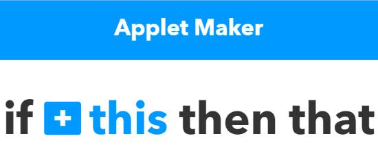 applet maker