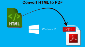 best free html to pdf converter software for windows 10