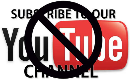 block youtube channels icon