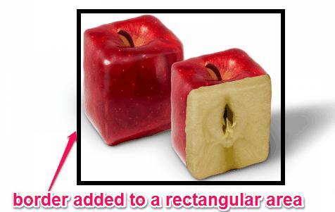 border to rectangle