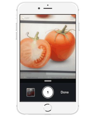 capture food photo