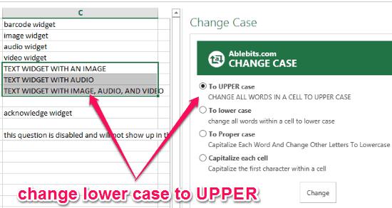 change cases