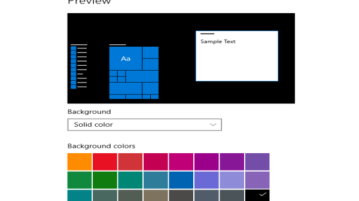 change desktop background to solid color in windows 10