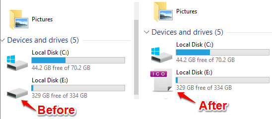 change drive icon in windows 10