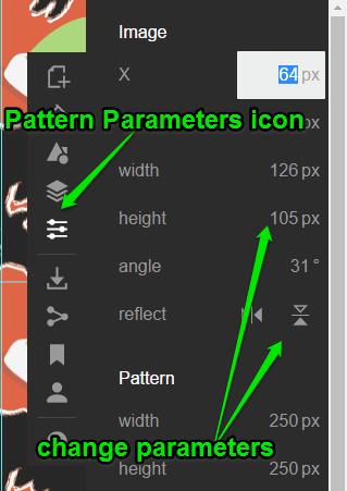 change parameters