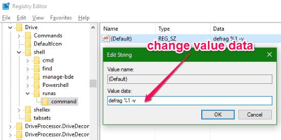 chnage value data