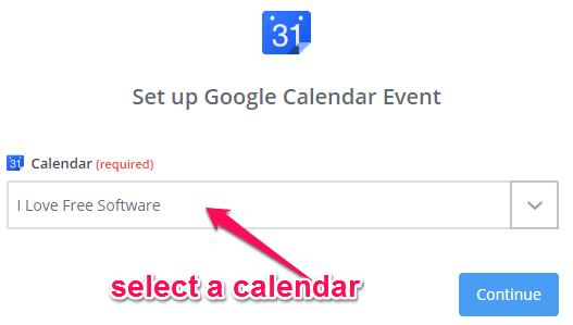 choose a calendar