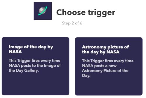 choose a trigger