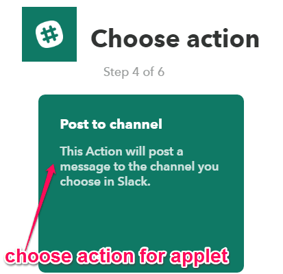 choose action