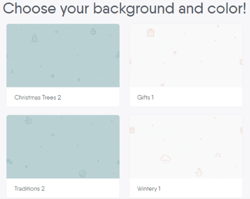 choose background