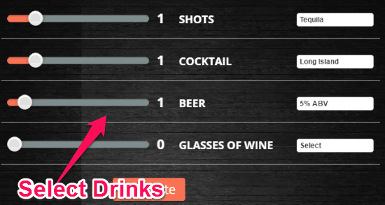 choose drinks
