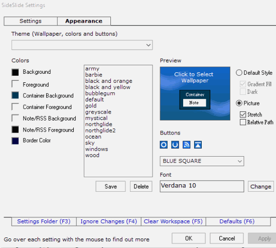 customize settings and appearance